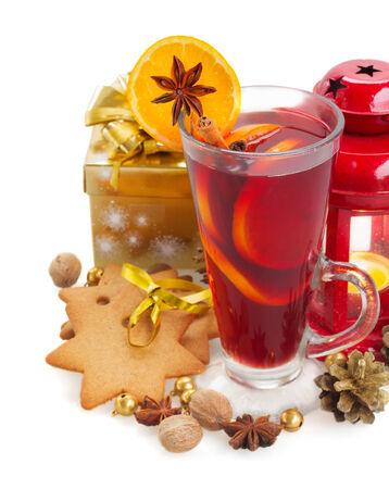 christma: christma mulled wine isolated on white background