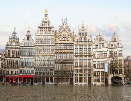 Grote Markt square in old town, Antwerpen, Belgium photo