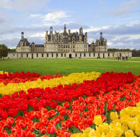 Chambord castle  in the Loire Valley (val de Loire),  France