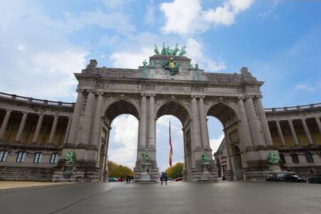 belgique:  The Triumphal Arch - one of the architectural symbols of Brussels, Belgium