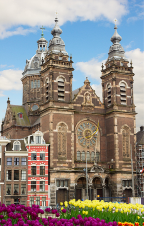 fasade of Church of St Nicholas,  Amsterdam, Netherlands photo