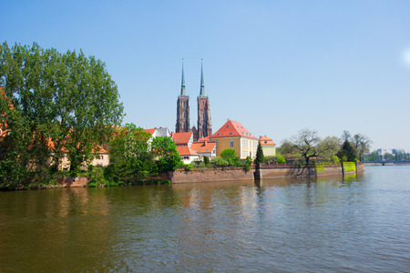 old town of Wroclaw ,   island Tumski, Poland photo