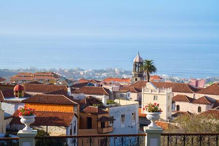 canarias: skyline  of Orotava, Tenerife island, Canarias, Spain Stock Photo