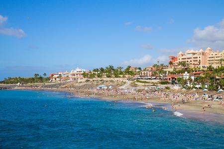 adeje: panoramic view of Adeje coast, Tenerife, Spain