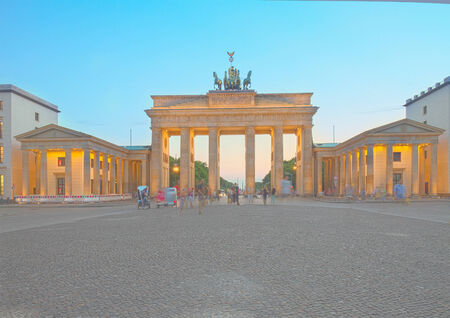 Brandenburg gate at night, Berlin, Germany. HDR photo