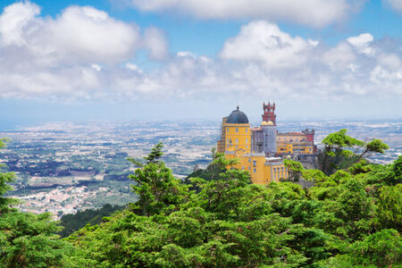 Palacio Pena and valley of  Sintra, Portugal photo