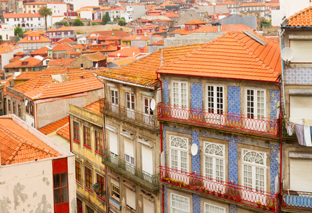 old houses in historic part of town, Porto, Portugal photo