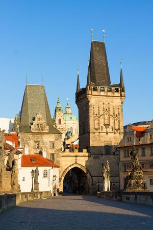 Gate tower of Charles bridge, Prague, Czech Republic photo