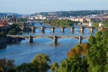 Bridges of Prague over VLtava river, Czech Republic photo