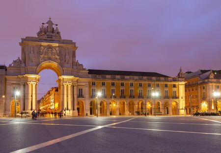 Rua Augusta Arch in Lisbon, Portugal photo