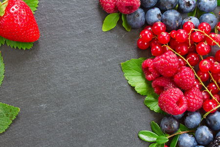 frame  of fresh berries photo
