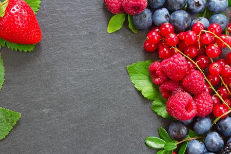 frame  of fresh berries photo