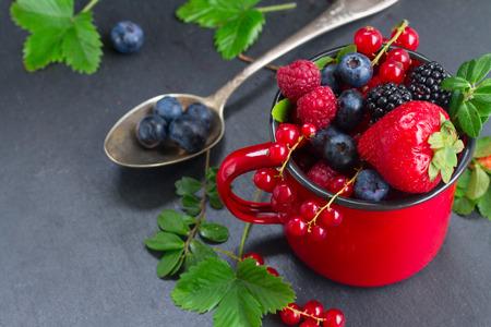 set of  fresh berries photo