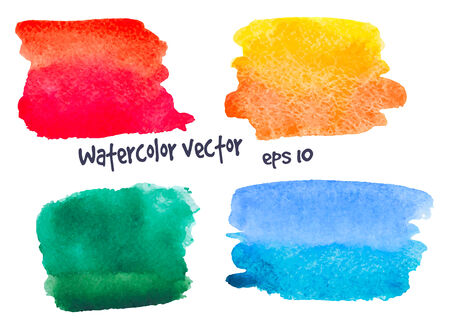 watercolor splash: mix of  watercolor spots