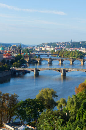 Bridges of Prague over VLtava river photo