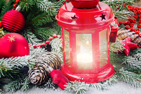 christmas lantern close up photo