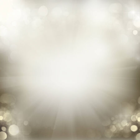 silver: chrismas  background with sparkles Stock Photo