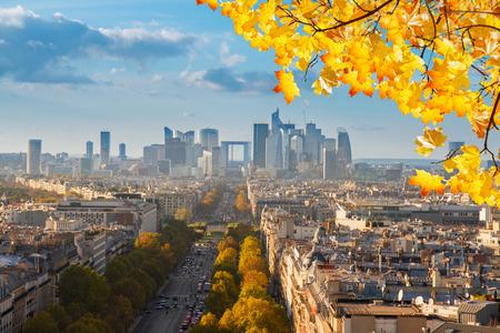 skyline of Paris, France photo