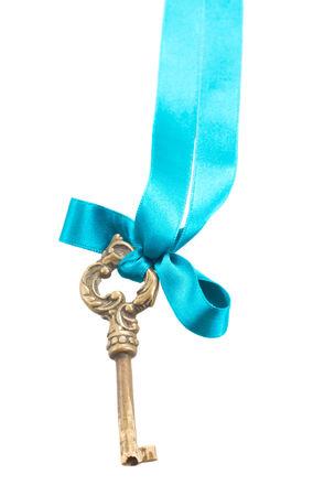 key on ribbon photo