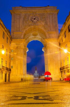 augusta: Rua Augusta Arch in Lisbon, Portugal