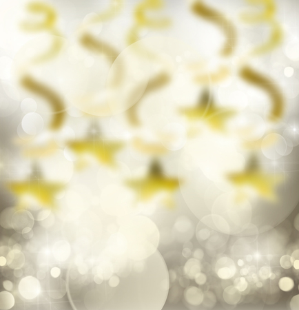 silver star: chrismas silver  background with bright  golden sparkles and lights