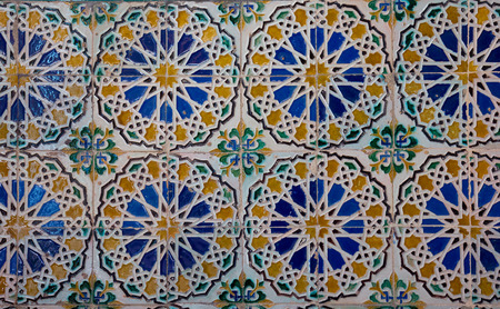 Mosaic at the Cartuja monastery,  Seville, Spain photo