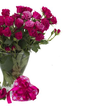 bunch of  fresh mauve roses Stock Photo