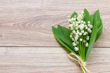 petites fleurs: lilly du bouquet de la vall�e Banque d'images