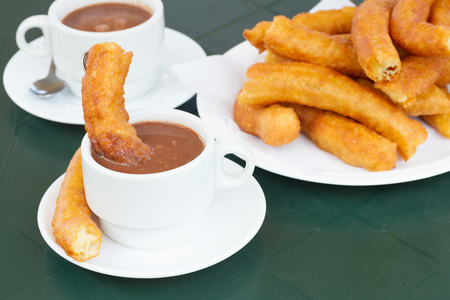 churros: traditional spanish pastry - churros