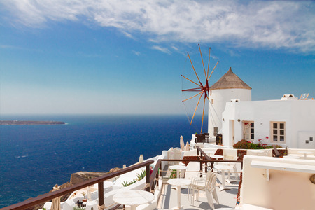 windmill of Oia, Santorini photo