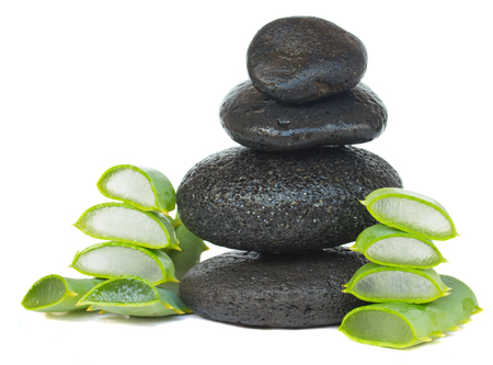massage stones: massage stones with aloe vera