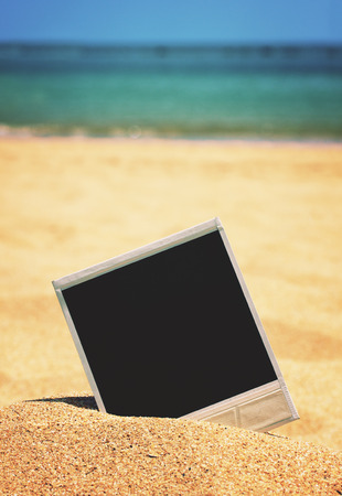 instant photo on a beach photo