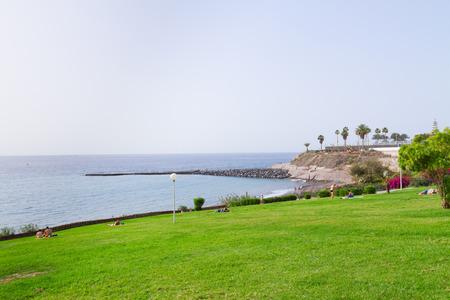canarias: costa Adeje and Atlantic ocean, Tenerife island, Canarias,  Spain Stock Photo