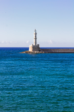 habour: habour of Chania in Crete, Greece