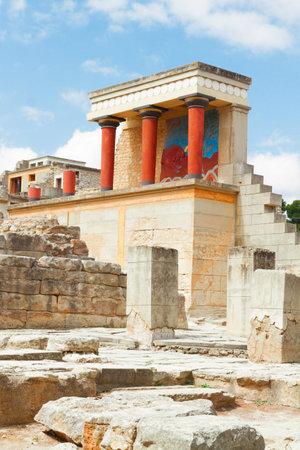 crete: Knossos palace at Crete, Greece Editorial