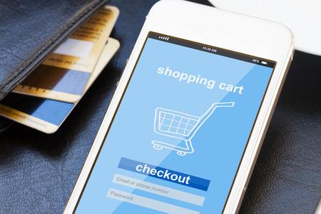 Concept de shopping mobile Banque d'images - 38120344