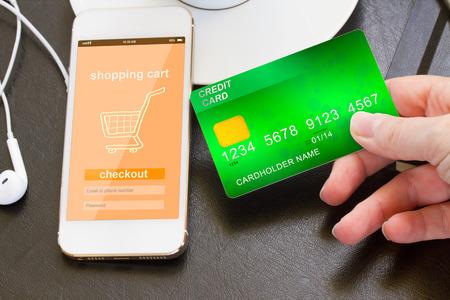 mobile shopping concept photo