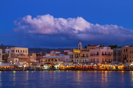 habour: venetian habour of Chania, Crete, Greece Stock Photo
