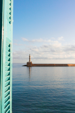habour: habour of Chania, Crete, Greece