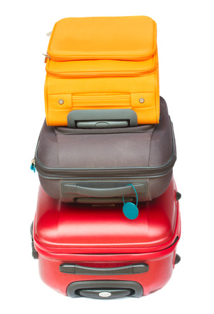 pile of suitcases photo