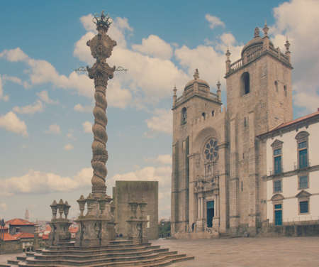 law of portugal: Pillory and  Se Cathedral in Porto