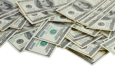 hundred dollar bill: dollar money border Stock Photo