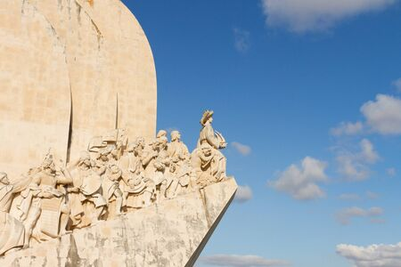 discoveries: The Monument to the Discoveries in Lisbon, Portugal Stock Photo