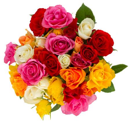 mazzo di fiori: bouquet di rose fresche Archivio Fotografico