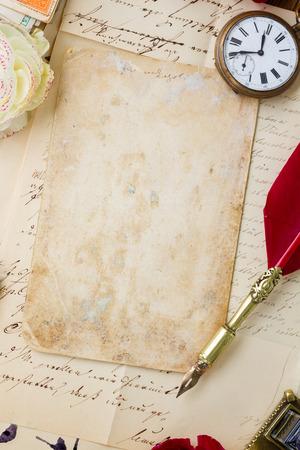 papier a lettre: Stylo à plume