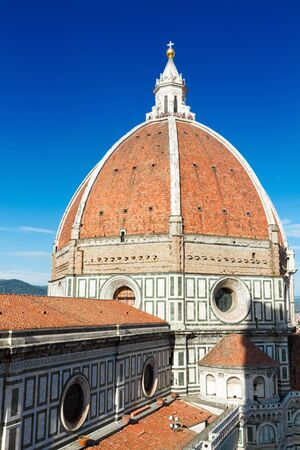 fiore: cathedral church Santa Maria del Fiore, Florence, Italy Stock Photo