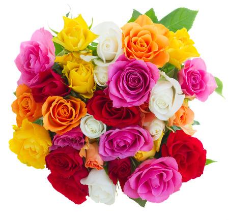 신선한 장미 꽃다발