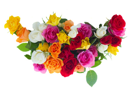 bouquet of fresh roses photo
