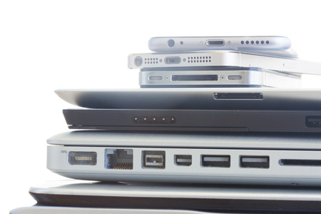 electronic tablet: pile of devices