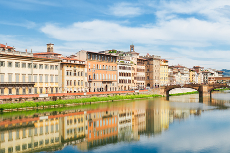 florence italy: old town and river Arno, Florence, Italy